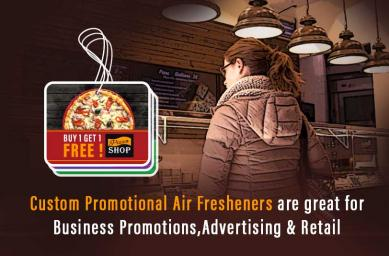 Custom Promotional Air Fresheners are great for Business Promotions, Advertising & Retail