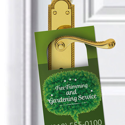 Door Hangers - Non Perforated | Promotional & Personalized Products