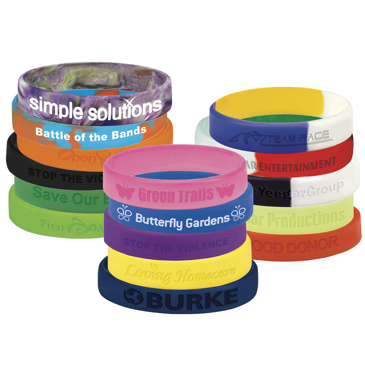 SILICONE AWARENESS WRIST BANDS