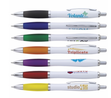 Ion Colored White Pen | Promotional & Personalized Air Freshener Items