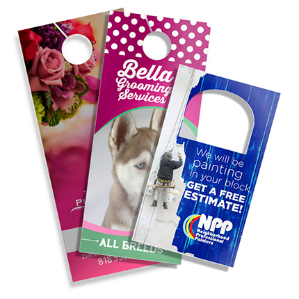 DOOR HANGERS - NON PERFORATED