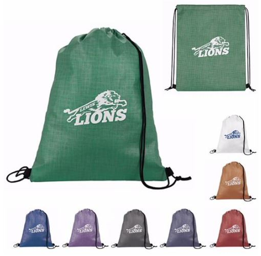 Non-Woven Shimmer Drawstring Backpacks | Promotional Products